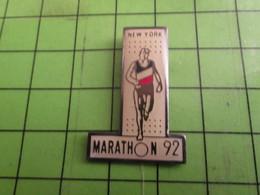316a Pins Pin's / Rare Et De Belle Qualité  THEME SPORTS : ATHLETISME NEW-YORK MARATHON 1992 - Athletics