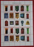 Surinam / Suriname 2009 Brievenbussen Letter Boxes Complete Sheet  (ZBL 1606-1615 Mi 2281-2290) POSTFRIS / MNH ** - Surinam