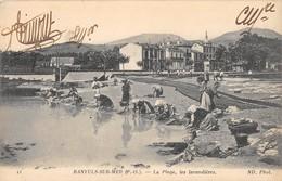 CPA 66 BANYULS SUR MER LA PLAGE LES LAVANDIERES - Banyuls Sur Mer