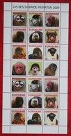 Surinam / Suriname 2009 Apen Primates Affen Monkey Singes Complete Sheet (ZBL 1659-1668 MI 2336-2344) POSTFRIS / MNH ** - Surinam