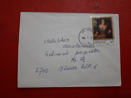 La Lituanie Enveloppe Circulé Avec Timbre De Madone 1996 - Lituanie