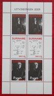 Surinam / Suriname 2009 Uitvinders Edison Davy Light Bulb Complete Sheet (ZBL 1603-1604 Mi 2278-2280) POSTFRIS / MNH ** - Surinam