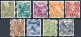 SUISSE SCHWEIZ SWITZERLAND Poste SUISSE 290 à 297 * MH Paysages Papier Gaufré (CV 23,05 €) - Switzerland
