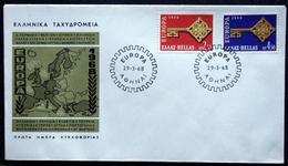 Greece 1968     EUROPA  / CEPT  MiNr.974-75  FDC  ( Lot   6597  ) - FDC