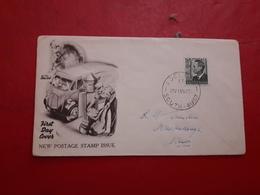 L'Australie Nouveau FDC Un Timbre De Courrier, Avec Un Enveloppe Décoré Avec Facteur En Reprenant Des Lettres - Premiers Jours (FDC)