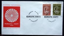 Greece 1966     EUROPA  / CEPT  MiNr.919-20  FDC  ( Lot   6597  ) - FDC