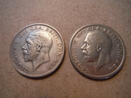 M30  2 X One Florin George V  1929 Et 1935  Silver - 1902-1971 : Monnaies Post-Victoriennes