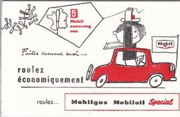 Buvard Mobil Mobilgas Mobiloil Spécial Automobile Roulez économique - Transports