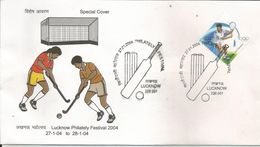 Special Cover Depicting Sports, Players Playing Hockey With Stic,Hockey Ball, Inde - Hockey (Veld)