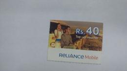 India-reliance Mobile Card-(26c)-(rs.40)-(31/12/10)-(maharashtra)-card Used+1 Card Prepiad Free - India