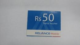 India-reliance Mobile Card-(26d)-(rs.50)-(31/3/2009)-(maharashtra)-card Used+1 Card Prepiad Free - India