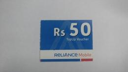 India-reliance Mobile Card-(26e)-(rs.50)-(31/12/2010)-(maharashtra)-card Used+1 Card Prepiad Free - India