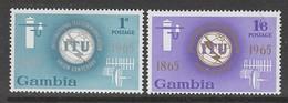 PAIRE NEUVE DE GAMBIE - CENTENAIRE DE L'UNION INTERNATIONALE DES TELECOMMUNICATIONS N° Y&T 203/204 - Télécom