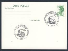 France Rep. Française 1988 Card / Karte / Carte - Desserte Vallee De Montmorency - Invalides / Inbetriebnahme - Treinen