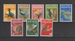 Malaisie 1965 Oiseaux Série 22-29 8 Val ** MNH - Malaysia (1964-...)