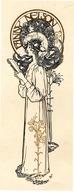 """EX-LIBRIS Fanny NELSON .-""""ART-NOUVEAU"""" 1898 - Ex Libris"""