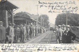 CPA ETATS UNIS AMERIQUE USA MORNING CROWD AT STATION SEACLIFF 1907 (TRAIN GARE - Other