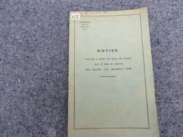 Notice Destinée à Guider Les Corps De Troupe Dans La Mise En Oeuvre Des Fusils 7,5 Mle 1936 - 61/06 - Books, Magazines, Comics