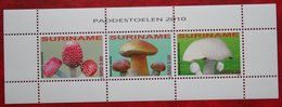 Surinam / Suriname 2010 Paddenstoelen Mushrooms Pilze Champignons (ZBL 1695-1697- Mi 2371-2373)  POSTFRIS / MNH ** - Surinam