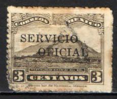 """MESSICO - 1933 - PIRAMIDE CON SOVRASTAMPA """"SERVICIO OFICIAL"""" - USATO - Messico"""