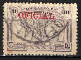 MESSICO - 1921 - MAPPA DEL MESSCIO CON SOVRASTAMPA OFICIAL - USATO - Messico
