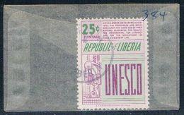 Liberia 384 Used UNESCO 1959 (L0557) - Liberia
