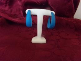 Boucles D'oreilles En Métal Bleu Turquoise - Boucles D'oreilles