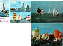 LOT 3 Cpm - Bateau Voilier - SPI Dériveurs - Voile Sports De Mer - Sailing Vessels