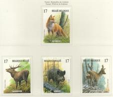 PIA  -  BELGIO  -  1998  : Natura - Mammiferi Delle Ardenne  - (Yv 2748-51) - Francobolli