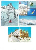 Lot 3 Cpm - Sports D'hiver - Québec Canada Terrasse Dufferin LA PLAGNE Ski-show Bob CERVINIA BREUIL Pistes à Bob - Wintersport