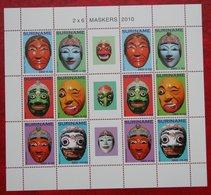 Surinam / Suriname 2010 Maskers Mask Maschere Masques Complete Sheet (ZBL 1764-1769  Mi 2441-2446) POSTFRIS / MNH ** - Surinam