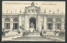 +++ CPA - BRUSSEL - Exposition BRUXELLES 1910 - Le Quadrige Et Entrée Principale   // - Expositions Universelles