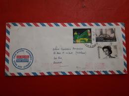 Bermuda Enveloppe Circulé Avec Timbres De Bateaux, Reine Et Les Autres - Bermudes