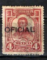 MESSICO - 1911 - JUAN ALDAMA - POSTA DI SERVIZIO - SOVRASTAMPA OFFICIAL IN NERO - USATO - Messico