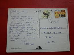 Un Sri Lanka Une Carte Circulée En Bolivie Avec Timbre D'avesy Les Autres - Sri Lanka (Ceylan) (1948-...)