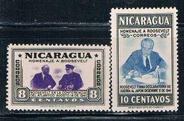 Nicaragua 696-97 MNH Roosevelt (N0245)+ - Nicaragua