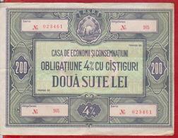 Romania 200 LEI CEC - Home Savings Bank Bond - Roumanie