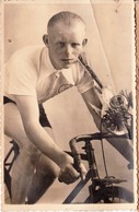 """Erembodegem - Aalst """" Fotokaart Renner Baillius Pieter Antoon - 10- 11-1913 Geboren (Brusselbaan 19 Erembodegem Woning ) - Aalst"""