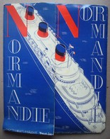 Normandie Transatlantique French Line. - Dépliant Publicitaire Avec Plan Du Paquebot. - Ca. 1930. - Dépliants Touristiques