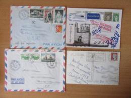 France Vers Etats-Unis - Lot De 44 Enveloppes Timbrées Modernes - Gros Affranchissements Et Timbres Variés - Collections
