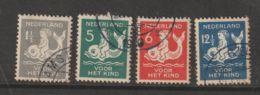 Nederland 1929  NVPH Nr. 225-228  Used - Oblitérés