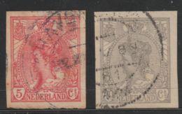 Nederland 1923  NVPH Nr. 82+83  Used Imperforeted - Oblitérés