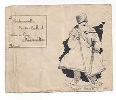 Lettre Illustrée à L'encre De Chine  -  Paysan Russe - Marcophilie (Lettres)