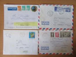 France Vers Canada / Québec - Lot De 40 Enveloppes Timbrées Modernes - Gros Affranchissements Et Timbres Variés - Collections