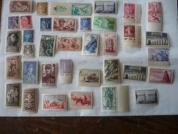 LOT DE 36  TIMBRES  NEUFS - GOMME D'ORIGINE  - FRANCE - NEUFS - DIFFERENTS - Collections