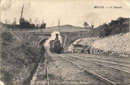 "RENAIX-RONSE ""LE TUNNEL AVEC TRAIN-DE TUNNEL MET STOOMTREIN"" - Renaix - Ronse"