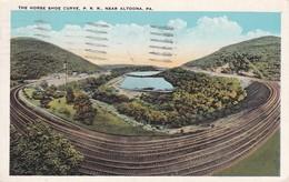 The Horse Shoe Curve Pennstlvania Railroad Near Altoona Pennsylvania 1929 - Other
