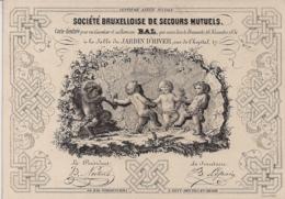 BRUSSEL,BRUXELLES-PORCELEINKAART,CARTE PORCELAINE-SOC.BRUXELLOISE DE SECOURS MUTUELS-CARTE D'ENTREE-BAL-142/100 MM - Cartes Porcelaine