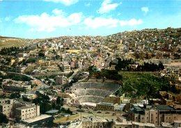 JORDANIE. Carte Postale écrite. Amphithéâtre D'Amman. - Jordanie