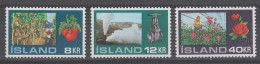 SERIE NEUVE D'ISLANDE - CULTURES EN SERRES N° Y&T 418 A 420 - Agriculture